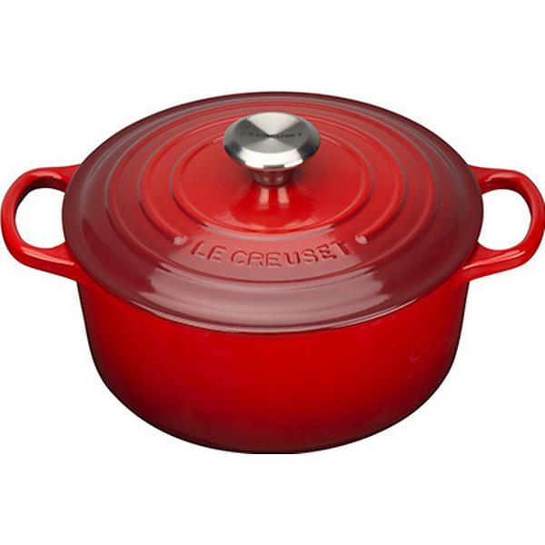 Le Creuset Cerise Signature Cast Iron Round Other Pots with lid 24cm