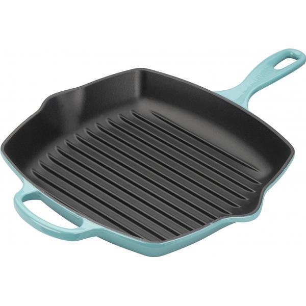 Le Creuset Teal Signature Cast Iron Grilling Pan 26cm