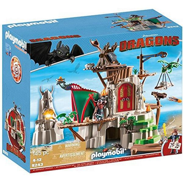 Playmobil Dragons Berk Island Fortress with Firing Cannons 9243
