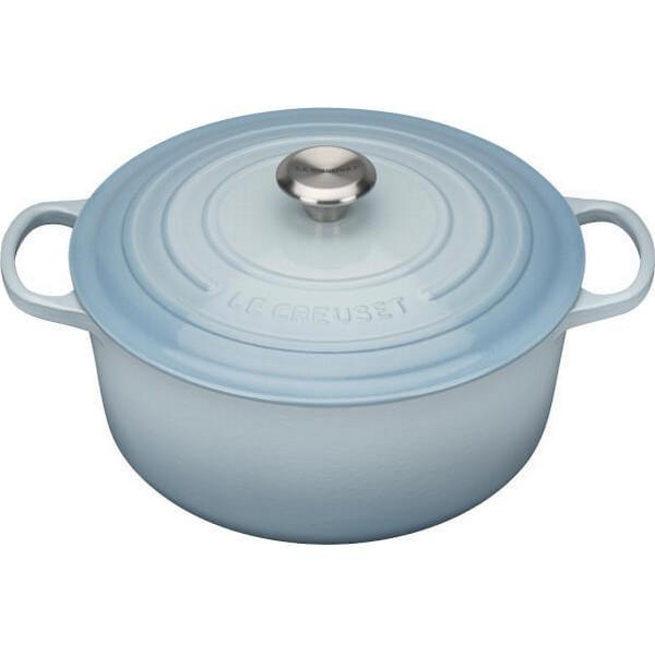 Le Creuset Coastal Blue Signature Cast Iron Round Other Pots with lid 28cm