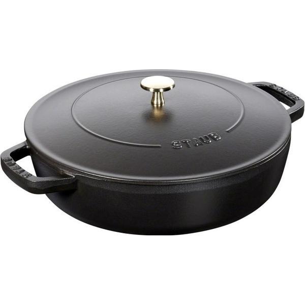 Staub Chistera Braiser Saute Pan with lid 28cm