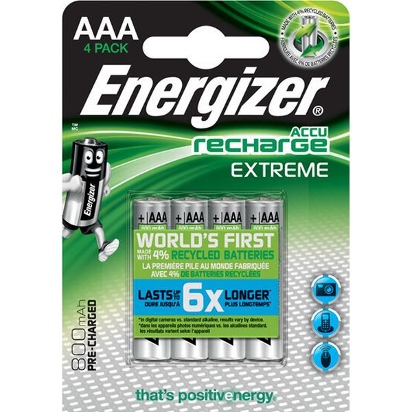 Energizer AAA Accu Recharge Extreme Compatible 4-pack