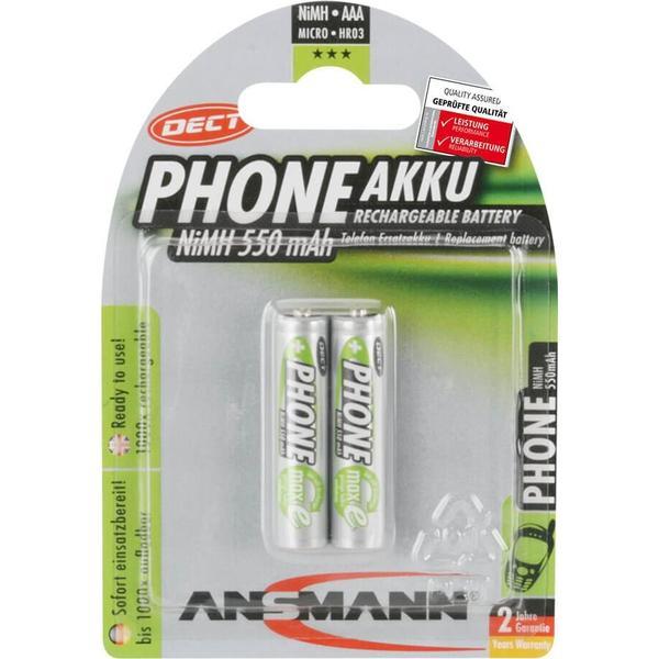 Ansmann DECT NiMH Micro AAA 550mAh MaxE 2-pack