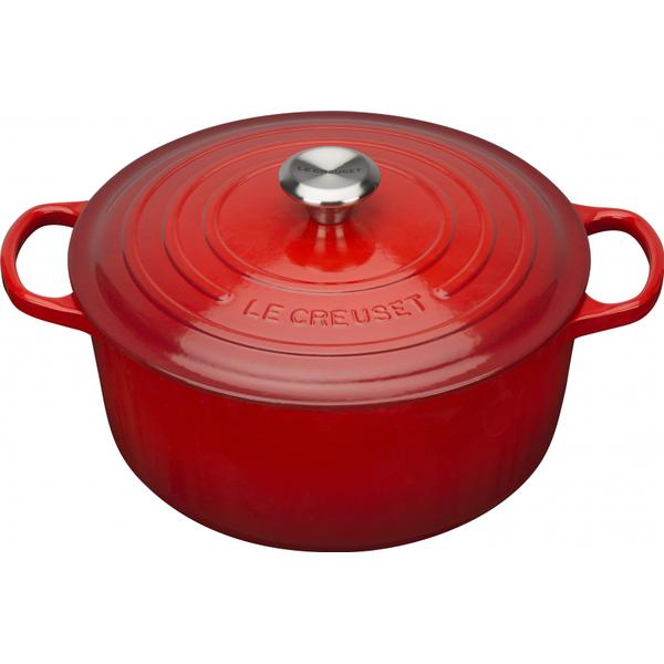 Le Creuset Cerise Signature Cast Iron Round Other Pots with lid 20cm