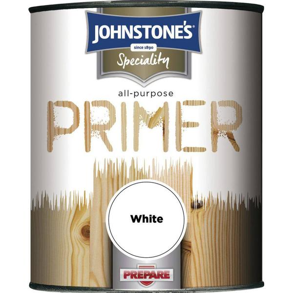 Johnstones Speciality All Purpose Primer Wood Paint, Metal Paint White 0.25L