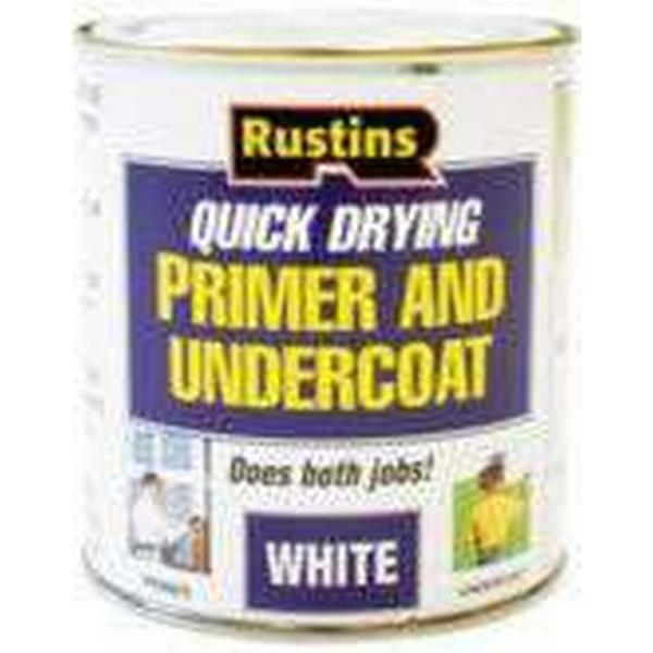 Rustins Quick Dry Primer & Undercoat Wood Paint White 0.5L