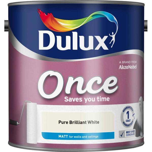 Dulux Once Matt Wall Paint, Ceiling Paint White 2.5L