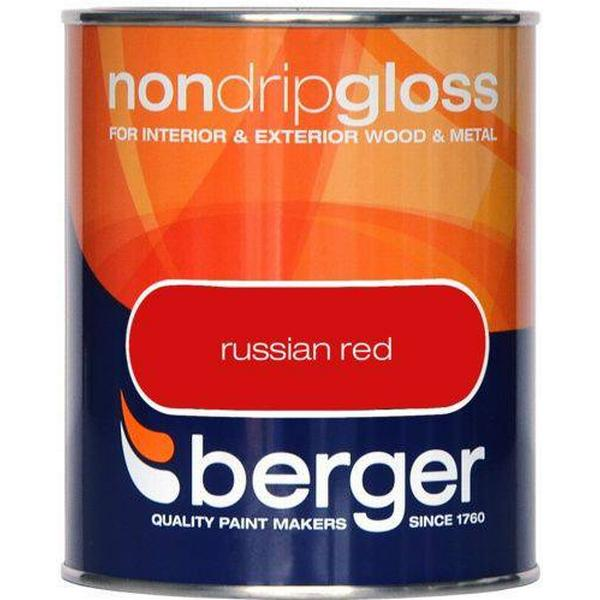 Berger Non Drip Gloss Wood Paint, Metal Paint Red 0.75L