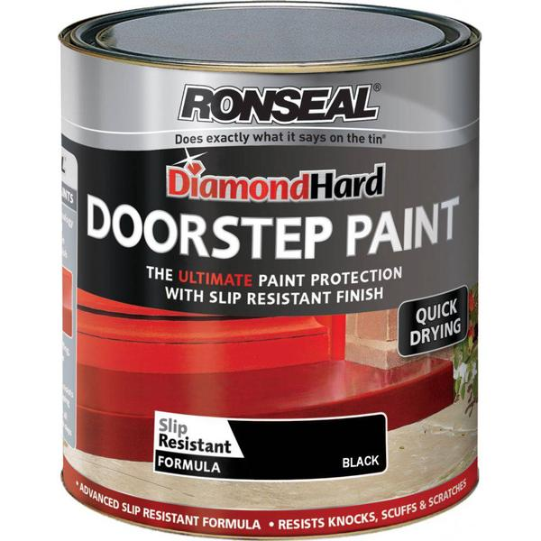 Ronseal Diamond Hard DoorStep Concrete Paint Black 0.75L