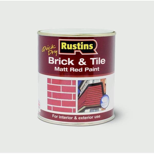 Rustins Quick Dry Brick & Tile Floor Paint Red 0.5L