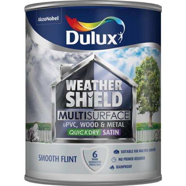 Dulux Weathershield Multisurface Wood Paint, Metal Paint Grey 0.75L