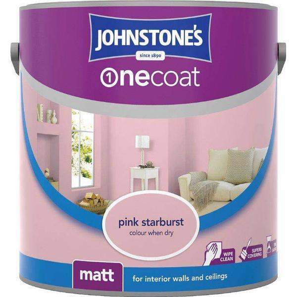 Johnstones One Coat Wall Paint, Ceiling Paint Pink 2.5L