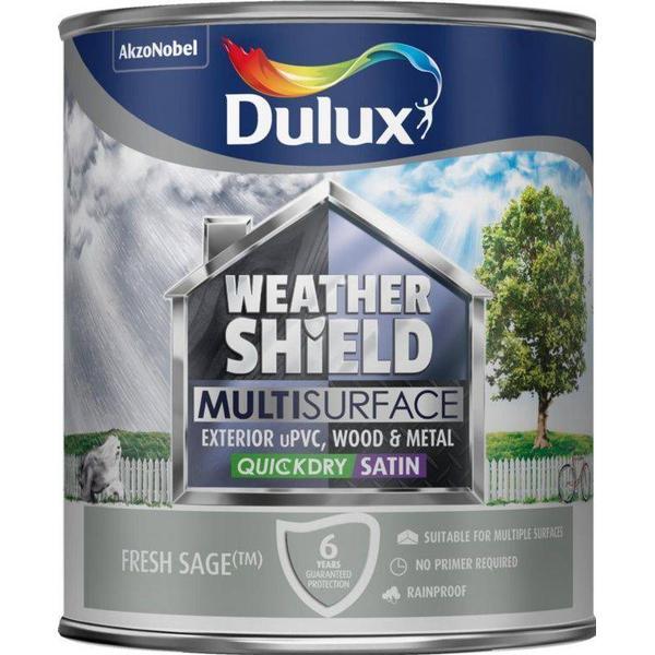 Dulux Weathershield Multisurface Wood Paint, Metal Paint Green 0.75L