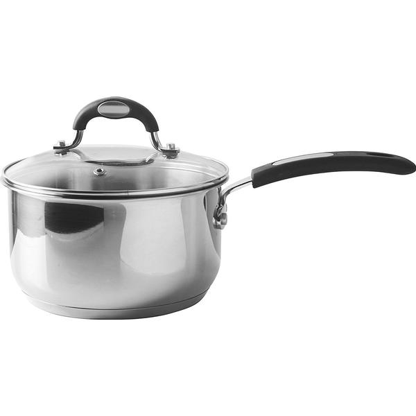 Viners Soft Grip Sauce Pan with lid 18cm