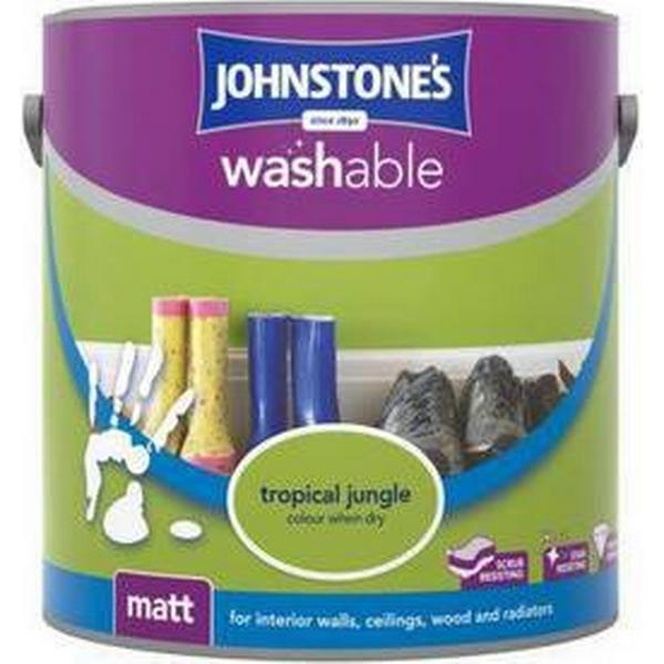 Johnstones Washable Matt Wall Paint, Ceiling Paint Green 2.5L