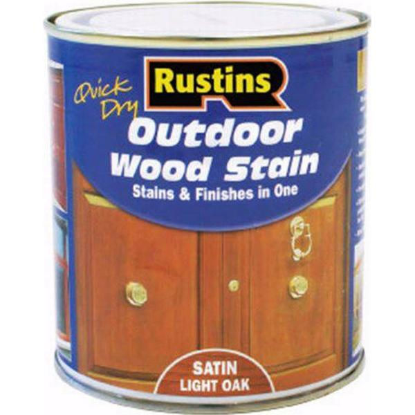 Rustins Quick Dry Outdoor Woodstain Black 0.5L