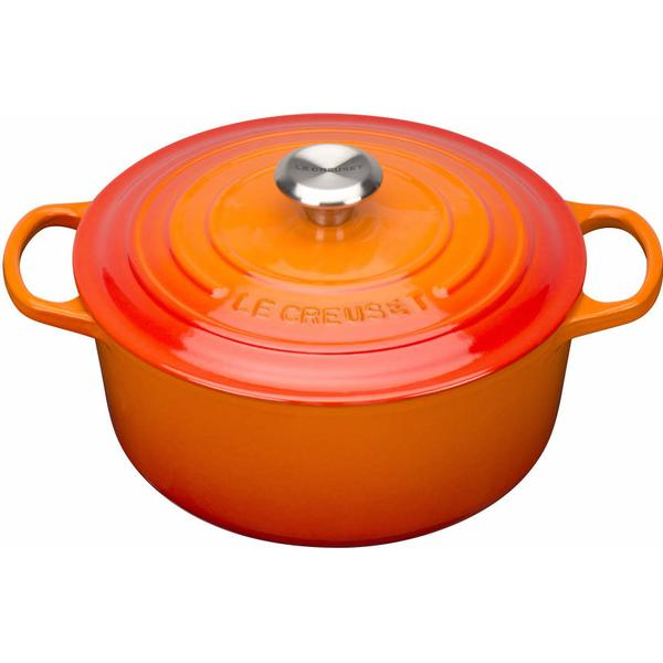 Le Creuset Volcanic Signature Cast Iron Round Other Pots with lid 26cm