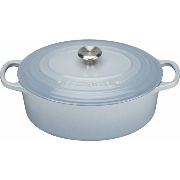 Le Creuset Coastal Blue Signature Cast Iron Oval Other Pots with lid 27cm