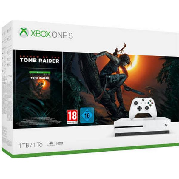 Microsoft Xbox One S 1TB - Shadow of the Tomb Raider