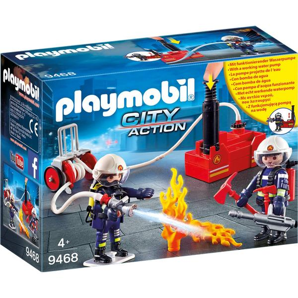 Playmobil Firefighters with Water Pump 9468