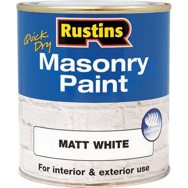 Rustins Quick Dry Masonry Concrete Paint White 0.25L