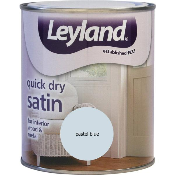 Leyland Trade Quick Dry Satin Wood Paint, Metal Paint Blue 0.75L