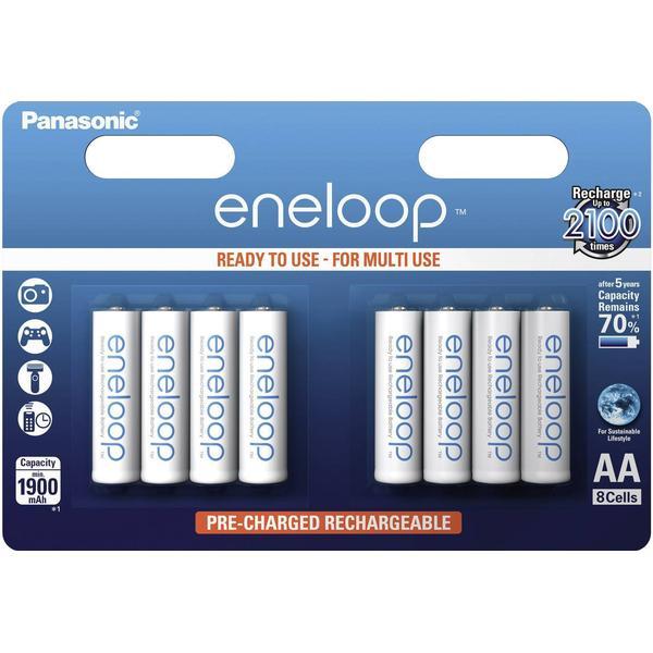 Panasonic Eneloop AA Compatible 8-pack