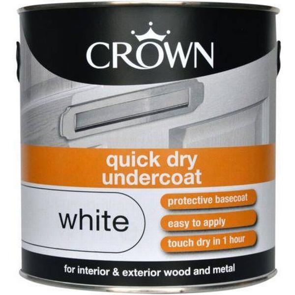 Crown Quick Dry Undercoat Wood Paint, Metal Paint White 2.5L