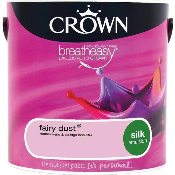 Crown Silk Emulsion Wall Paint, Ceiling Paint Pink 2.5L