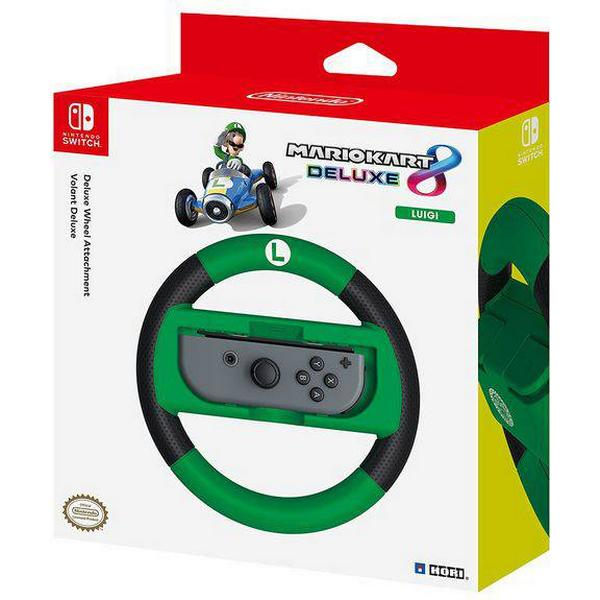 Hori Nintendo Switch Mario Kart 8 Deluxe Racing Wheel Controller (Luigi) - Black/Green