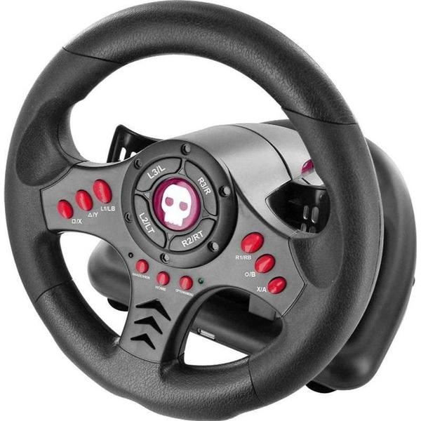 Numskull Universal Gaming Steering Wheel And Pedals (PS4)