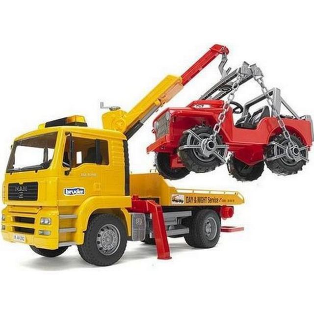 Bruder MAN TGA Breakdown Truck With Cross Country Vehicle 2750