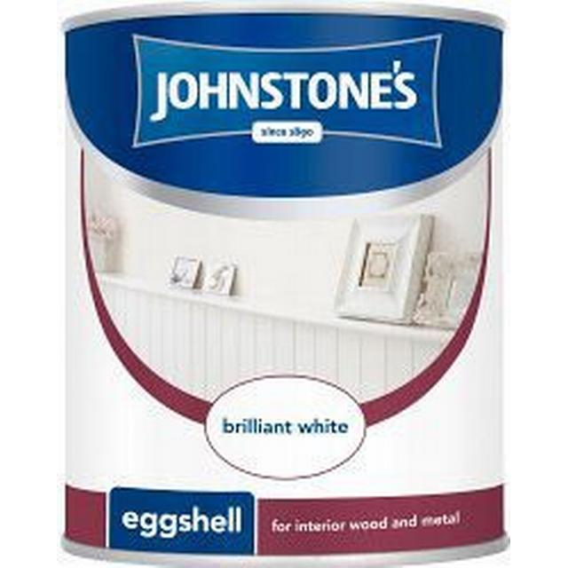 Johnstones Eggshell Wood Paint White 0.75L Wood Paint White 0.75L