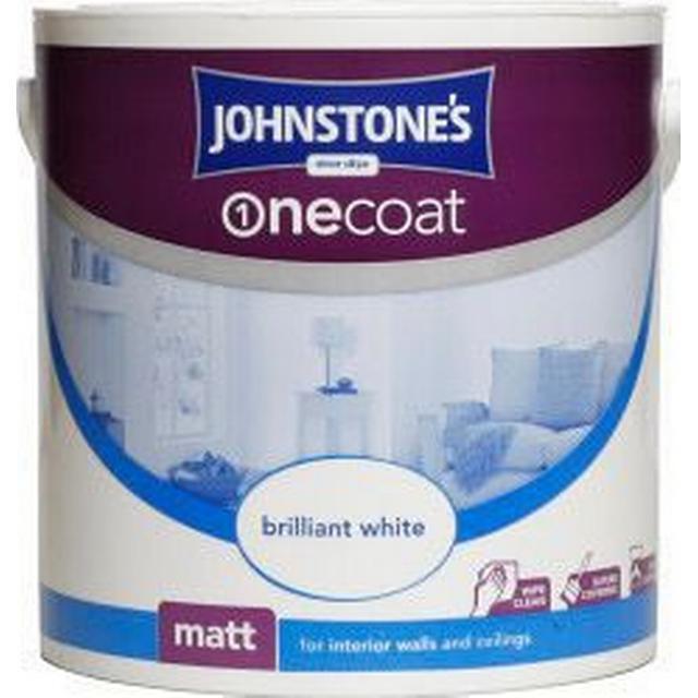 Johnstones One Coat Wall Paint, Ceiling Paint White 2.5L