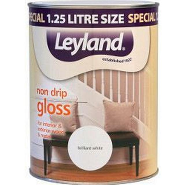 Leyland Trade Non Drip Gloss Wood Paint, Metal Paint White 1.25L