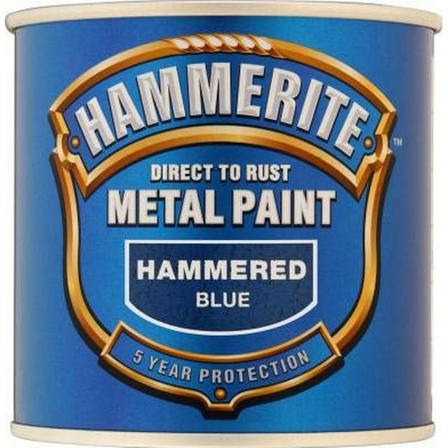 Hammerite Direct to Rust Hammered Effect Metal Paint Blue 0.75L