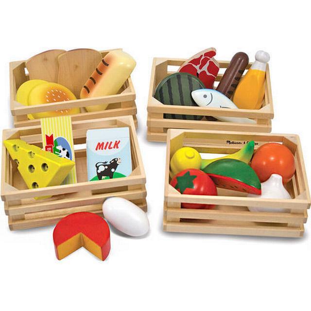 Melissa & Doug Food Groups Wooden Play Food