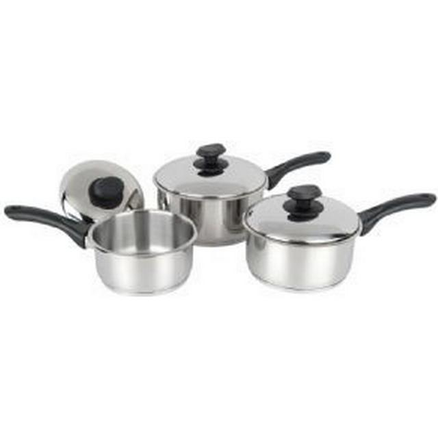 Pendeford Stainless Steel Collection Saucepan Set with lid 3 parts