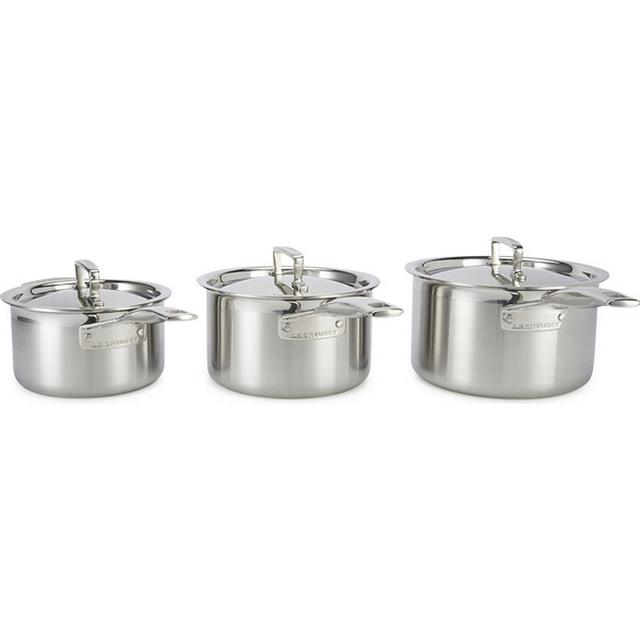 Le Creuset 3 Ply Stainless Steel Set with lid 3 parts