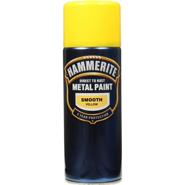 Hammerite Direct to Rust Smooth Effect Metal Paint Yellow 0.4L