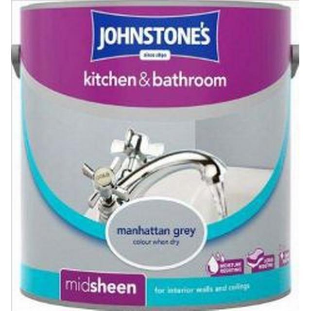 Johnstones Kitchen & Bathroom Wall Paint, Ceiling Paint Grey 2.5L