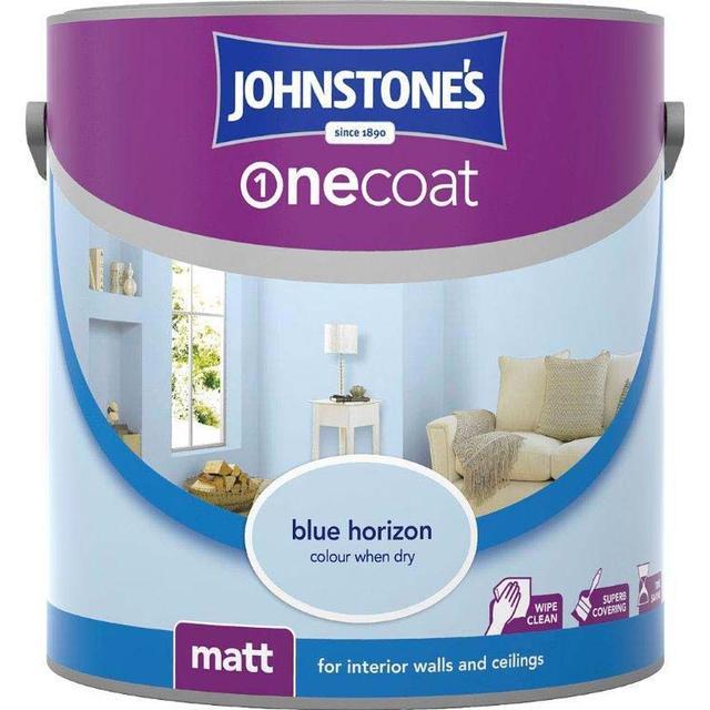 Johnstones One Coat Wall Paint, Ceiling Paint Blue 2.5L