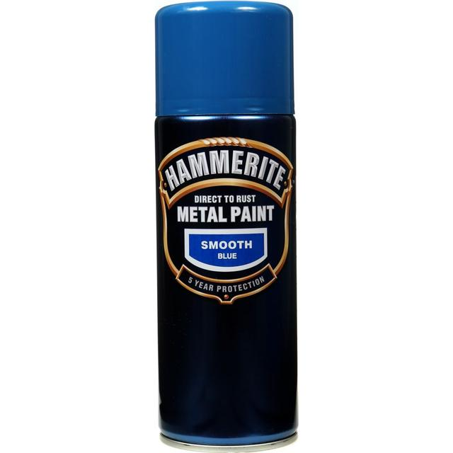 Hammerite Direct to Rust Smooth Effect Metal Paint Blue 0.4L