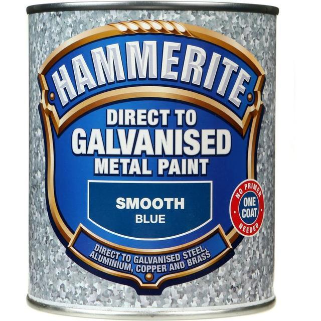 Hammerite Direct to Galvanised Metal Paint Blue 0.75L