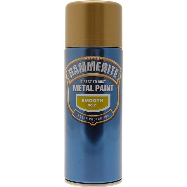 Hammerite Direct to Rust Smooth Effect Metal Paint Gold 0.4L