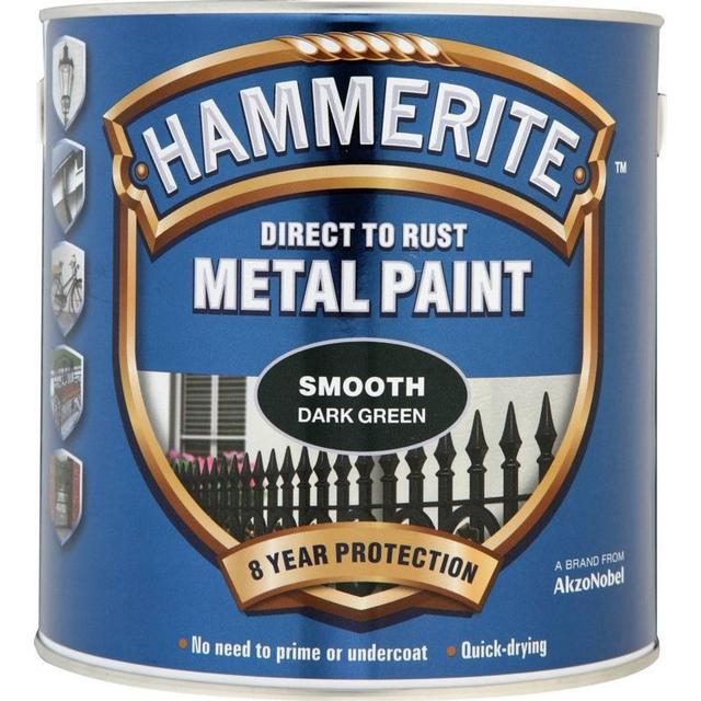 Hammerite Direct to Rust Smooth Effect Metal Paint Green 0.25L