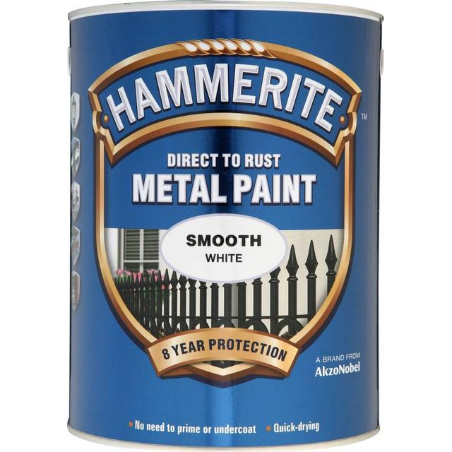 Hammerite Direct to Rust Smooth Effect Metal Paint White 5L