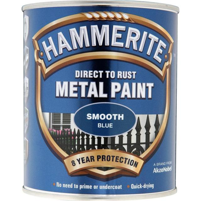 Hammerite Direct to Rust Smooth Effect Metal Paint Blue 0.75L
