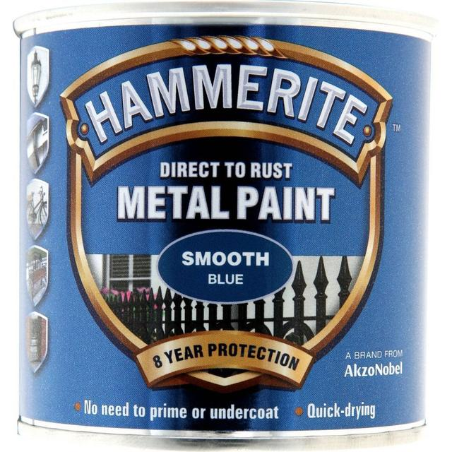 Hammerite Direct to Rust Smooth Effect Metal Paint Blue 0.25L