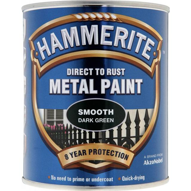 Hammerite Direct to Rust Smooth Effect Metal Paint Green 0.75L